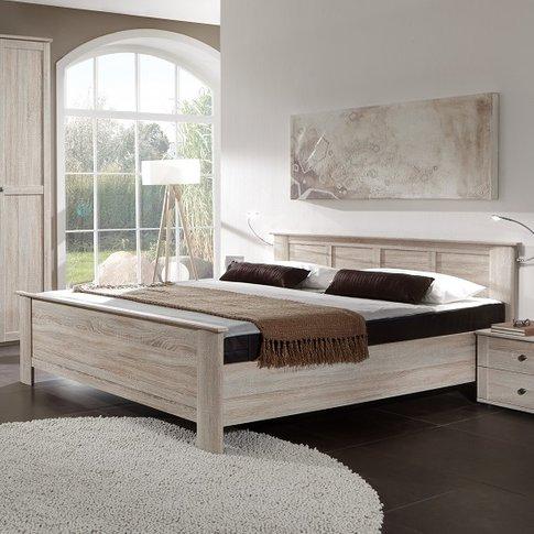 Krefeld Wooden Double Bed In Oak Effect