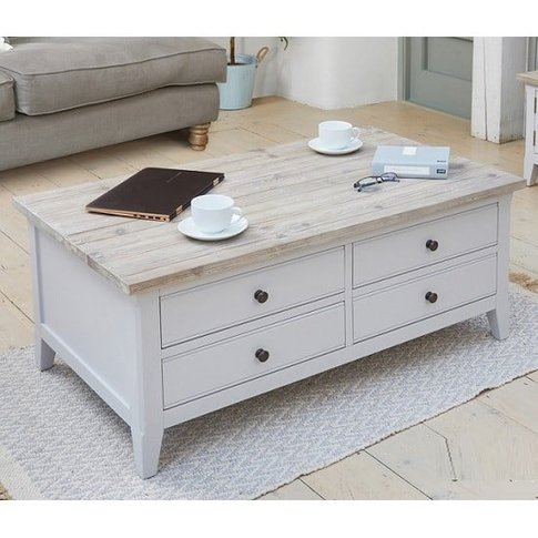 Krista Wooden Coffee Table In Grey With Flip Top And...