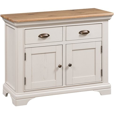 Leanne Small Sideboard In Stone Washed White Finish