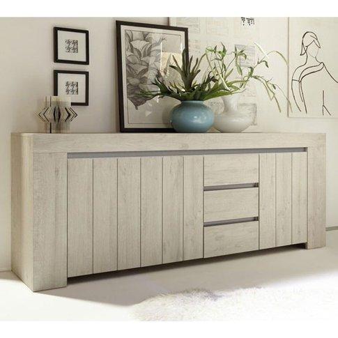 Leilani Wooden Sideboard In Beige Oak