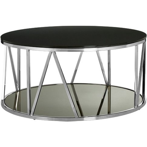 Levinson Marble Coffee Table In Chrome Line Design F...