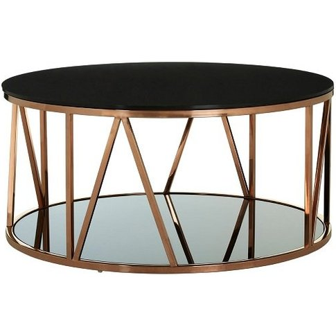 Levinson Marble Coffee Table In Gold Line Design Frame