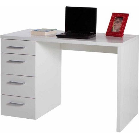 Lewis Wooden Small Computer Desk In White Gloss With...