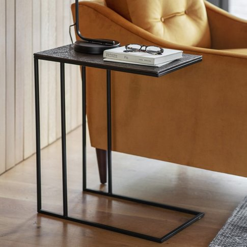 Linton Supper Side Table In Antique Copper Finish Top