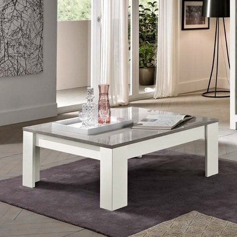 Lorenz Coffee Table Square In Marble And White High ...