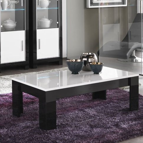 Lorenz Coffee Table Rectangular In Black And White H...