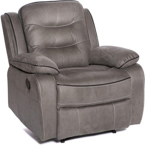 Lovell Fabric Recliner Armchair In Grey