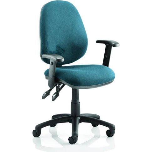 Luna Ii Office Chair In Maringa Teal With Arms