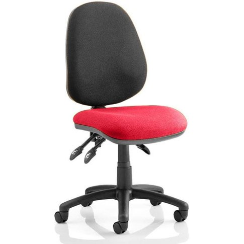 Luna Iii Office Chair With Bergamot Cherry Seat No Arms