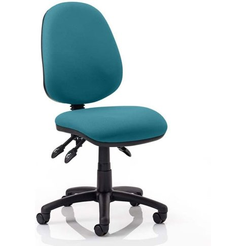 Luna Iii Office Chair In Maringa Teal No Arms