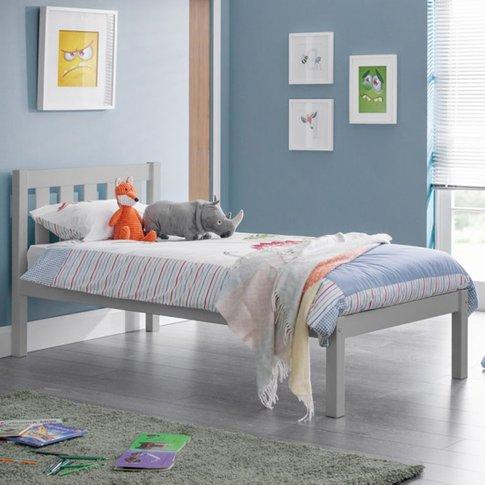 Luna Wooden Single Bed In Dove Grey