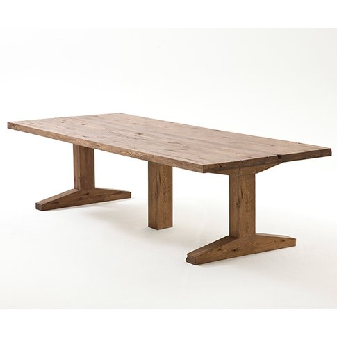 Lunch Extra Large Wooden Dining Table In Bassano Oak