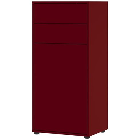 Madeo Shoe Storage Cabinet In Ruby Red