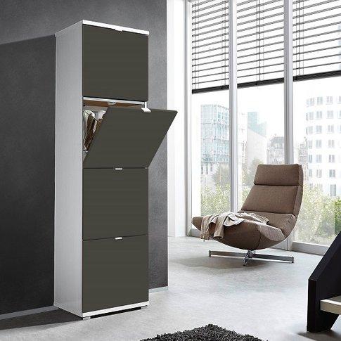 Madison Large Shoe Storage Cabinet With Basalt Grey ...