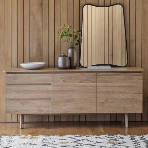 Madrid Wooden Sideboard With 2 Doors And 3 Drawers