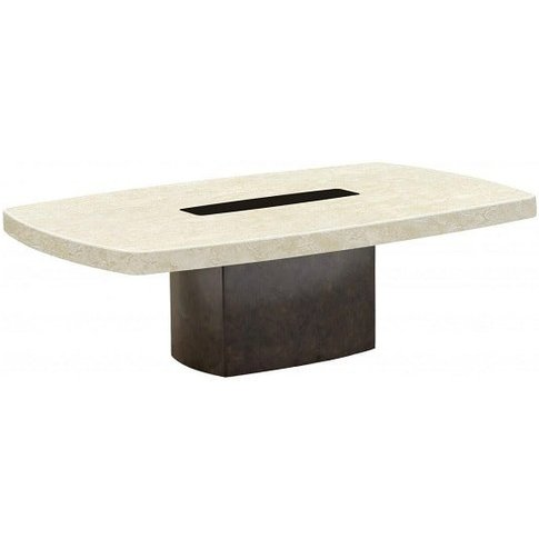 Malissa Marble Coffee Table Rectangular In Cream And...