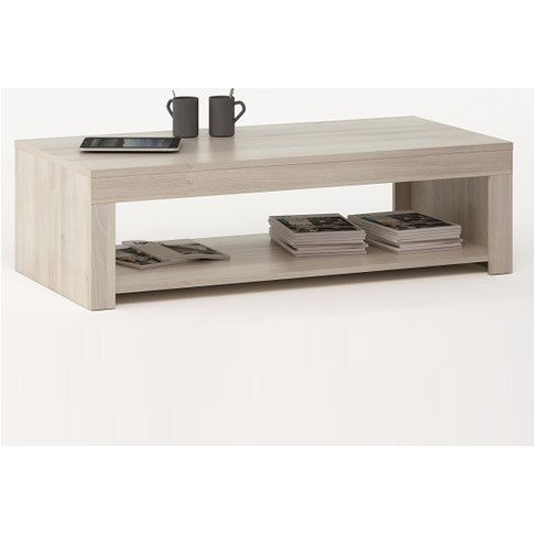 Malvern Wooden Coffee Table In Acacia With 1 Shelf