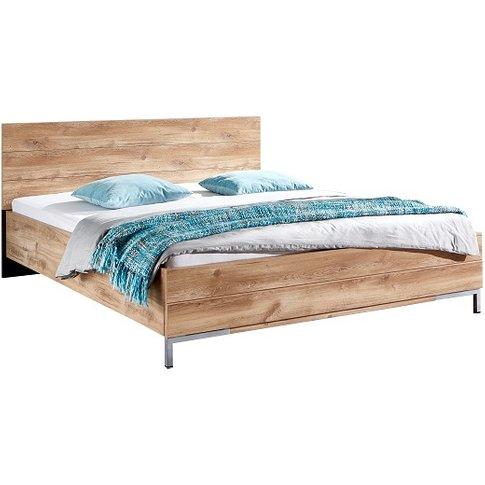 Mantova 140x200cm Wooden Bed In Planked Oak Effect