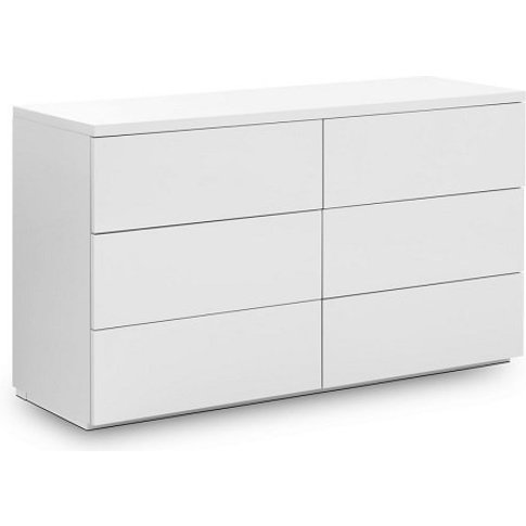 Marcus Chest Of Drawers Wide In White High Gloss Wit...