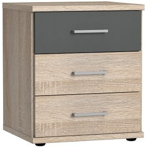 Marino Wooden Bedside Cabinet In Oak Effect And Grap...