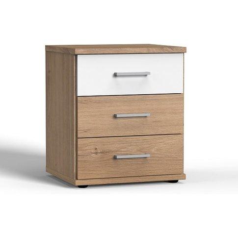 Marino Wooden Bedside Cabinet In Planked Oak Effect ...