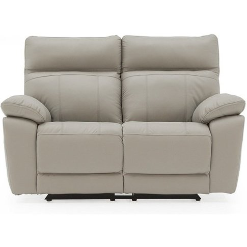 Marquess Recliner 2 Seater Sofa In Light Grey Faux L...