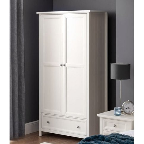 Marquis Wooden Wardrobe In White With 2 Doors And 1 ...