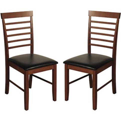 Marsic Dark Acacia Dining Chairs In Pair