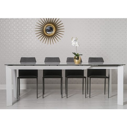 Marten Extendable Dining Table In Glass Ceramic And ...