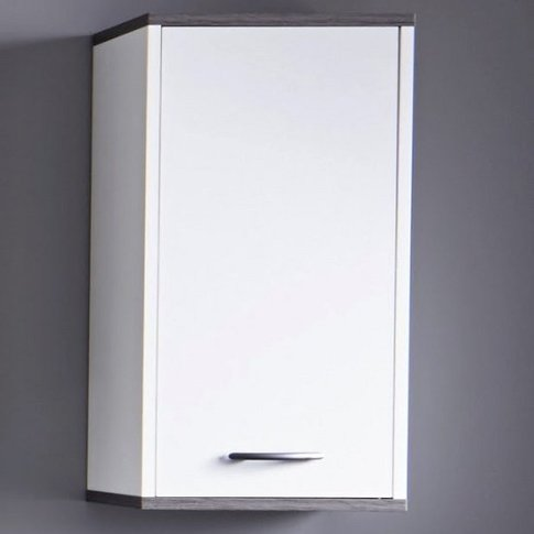 Matis Wall Mounted Bathroom Cabinet In White And Smo...