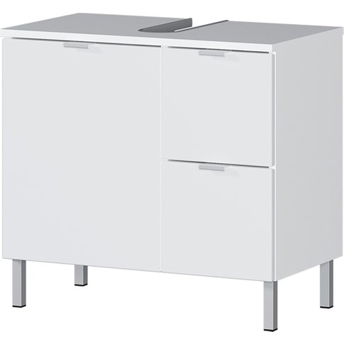 Mauresa Basin Vanity Unit In White High Gloss