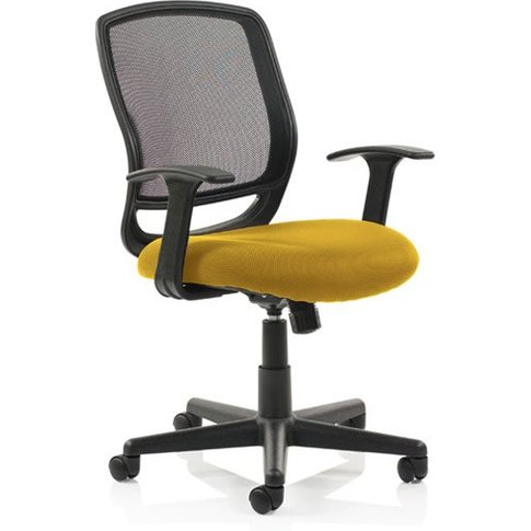 Mave Task Black Back Office Chair With Senna Yellow ...