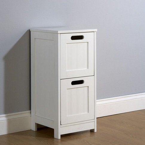 Maxima Wooden Chest Of Drawers In White With 2 Drawers