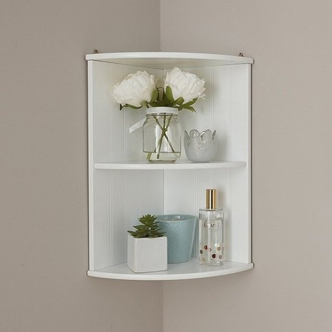 Maxima Wooden Wall Mounted Shelving Unit In White
