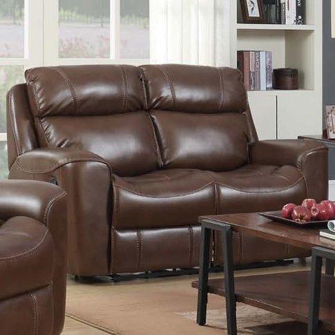 Mebsuta Leather 2 Seater Sofa In Tan
