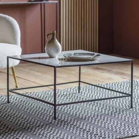 Melliya Wooden Coffee Table In Light Grey