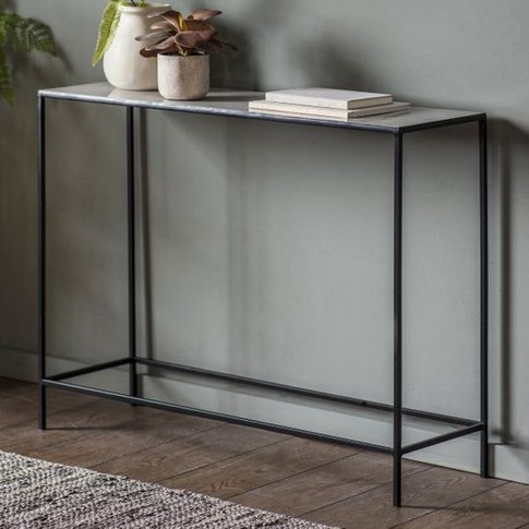 Melliya Wooden Console Table In Light Grey