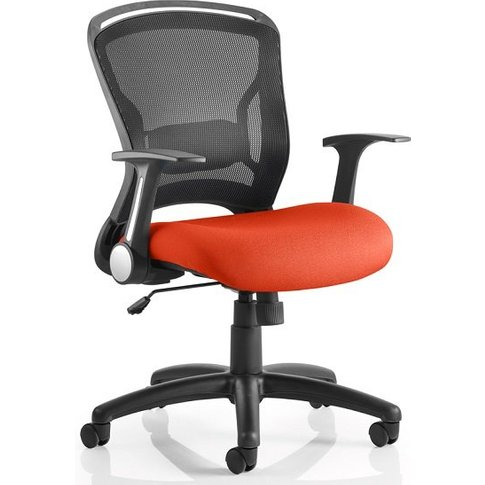 Mendes Contemporary Office Chair In Pimento With Cas...