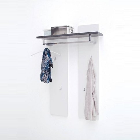 Mentis Wall Mounted Coat Rack In Matt White And Conc...