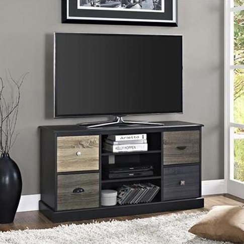 Mercer Wooden Small Tv Stand In Black