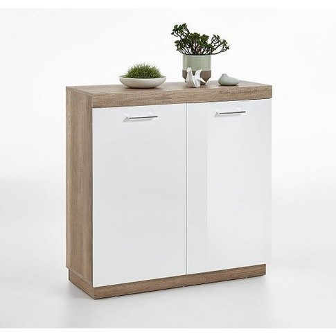 Mercia Compact Sideboard In Monument Oak And High Gl...