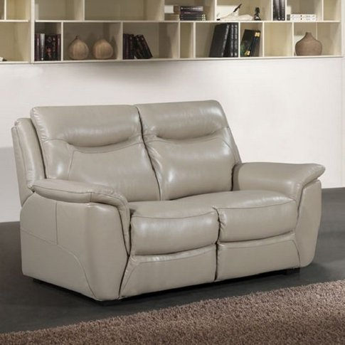 Merryn Contemporary 2 Seater Sofa In Taupe Faux Leather
