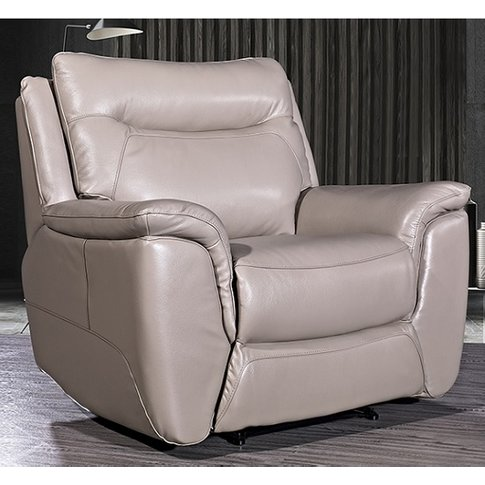 Merryn Contemporary Armchair In Taupe Faux Leather