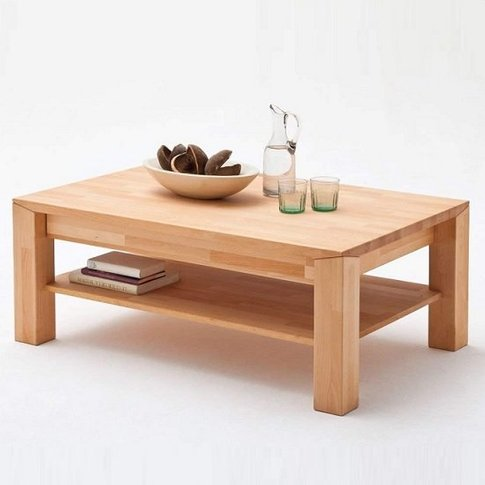 Messina Wooden Coffee Table In Beech Heartwood With ...