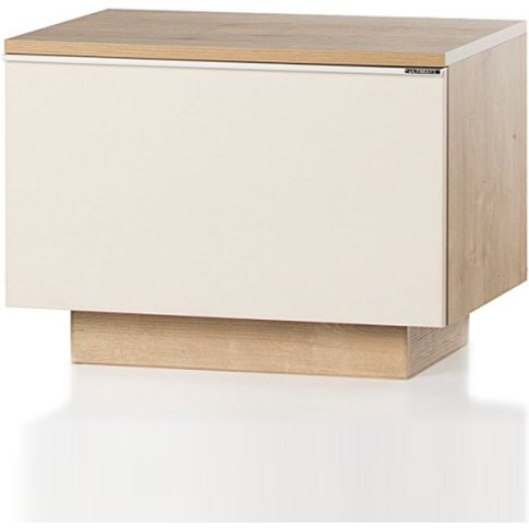 Michigan Storage Cabinet In Cream And Oak With Flap ...