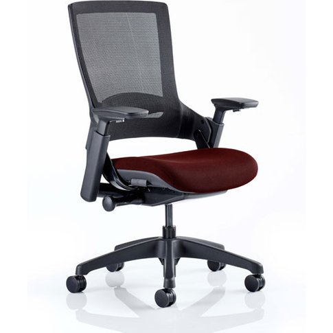 Molet Black Back Office Chair With Ginseng Chilli Seat
