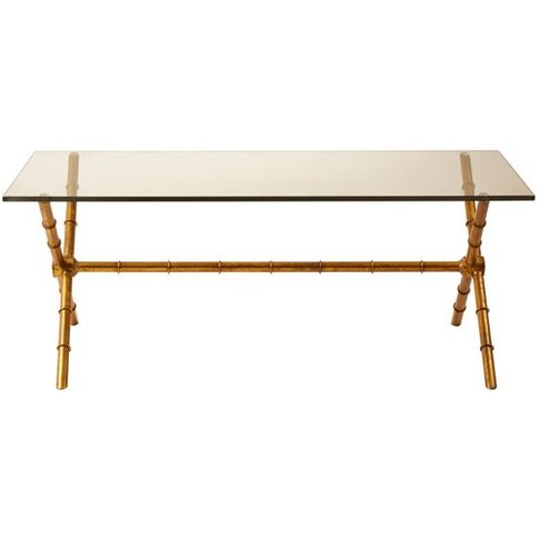 Monroe Rectangular Coffee Table With Tempered Glass Top