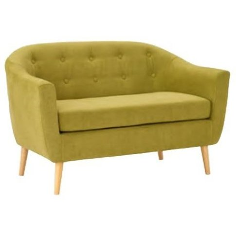 Morrill Woven Fabric Two Seater Sofa In Olive With O...