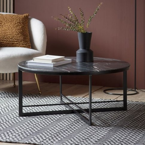 Necta Round Marble Top Coffee Table In Black
