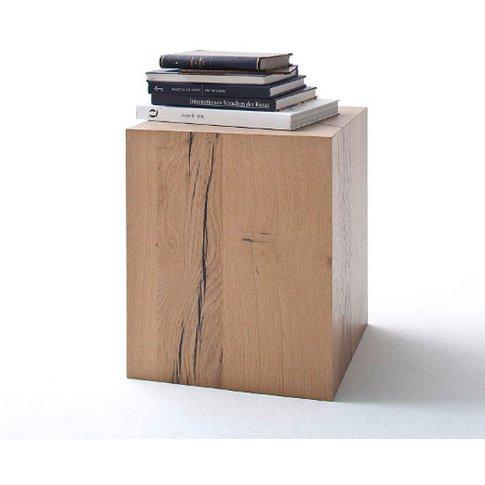 Nizza Wooden Side Table In Cracked Oak